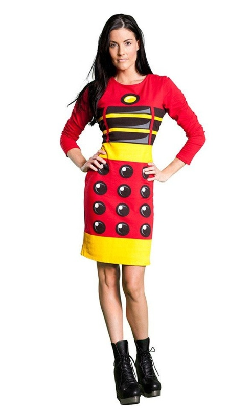 Doctor Who Red Dalek Exterminate Body Con Dress