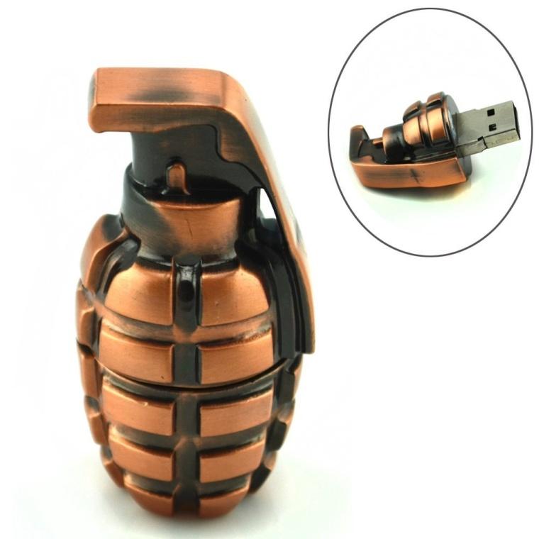 Grenade Shaped 8GB USB Flash Drive