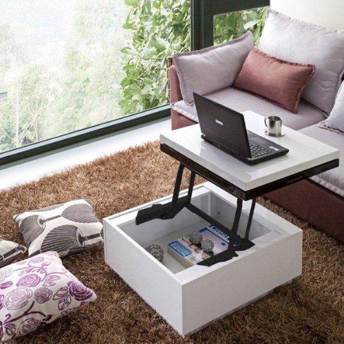 High-Gloss Lift-Top Coffee Table