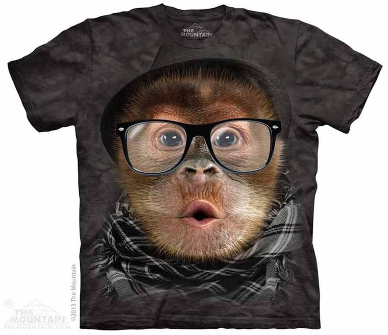 Hipster Orangutan Baby The Mountain Tee Shirt Adult