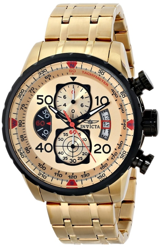 Invicta Mens Quartz Gold Watch