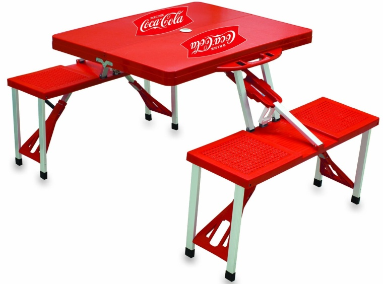 Picnic Time Coca-Cola Portable Folding TableSeats