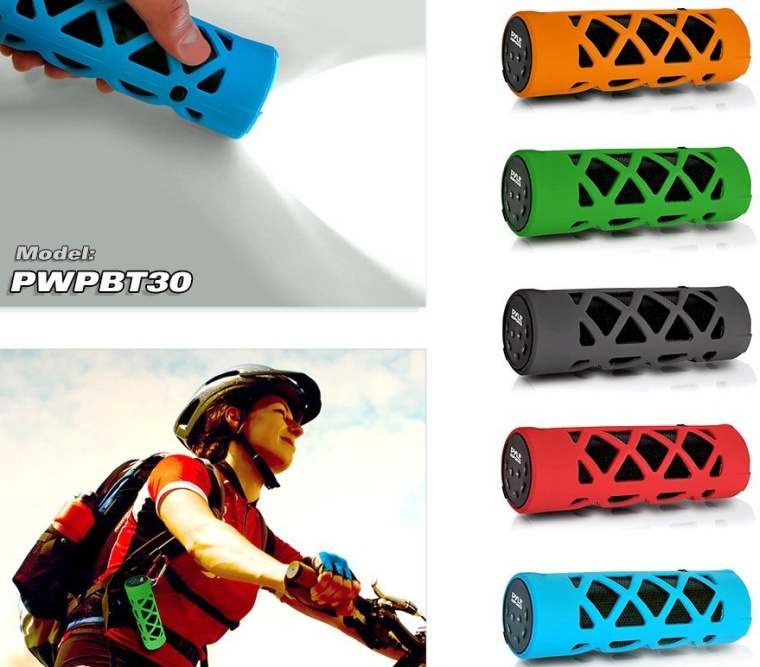 Pyle Bluetooth Water Resistant Flashlight Speaker with Call Answering Mic