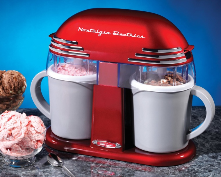 Retro Series Double Ice Cream Maker