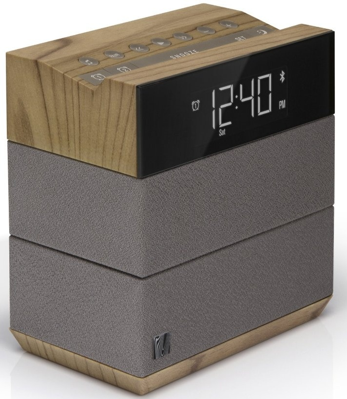 Sound Rise Wireless Bluetooth Speaker  Alarm Clock with FM Radio and USB Charger