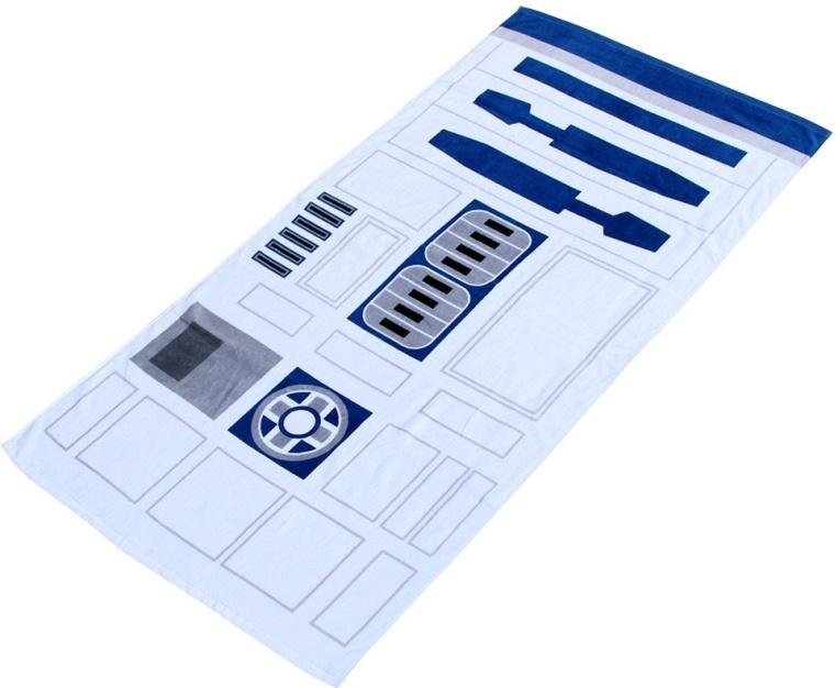 Star Wars White R2D2 Droid Beach Towel