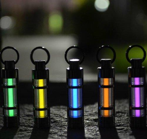 Titanium Alloy Tritium Gas Fluorescence Key Chain Autoluminescence Rescue Emergency Light