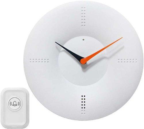 White Doorbell Clock