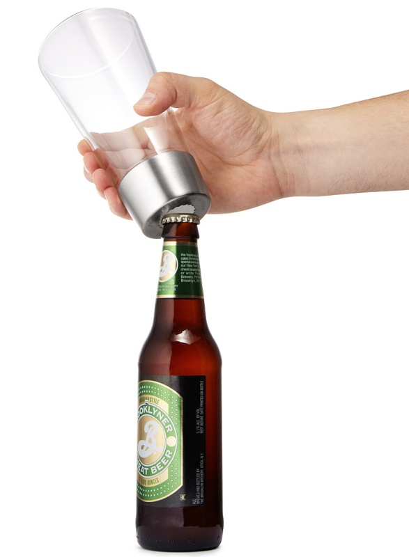 beer opening glass