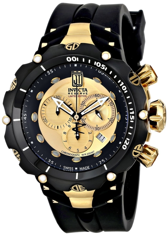 Invicta Men's 14416 Jason Taylor Analog Display Swiss Quartz Black Watch