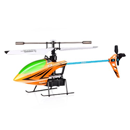 Syma F3 4CH 2.4G RC Remote Control Helicopter Gyro LCD Display Orange