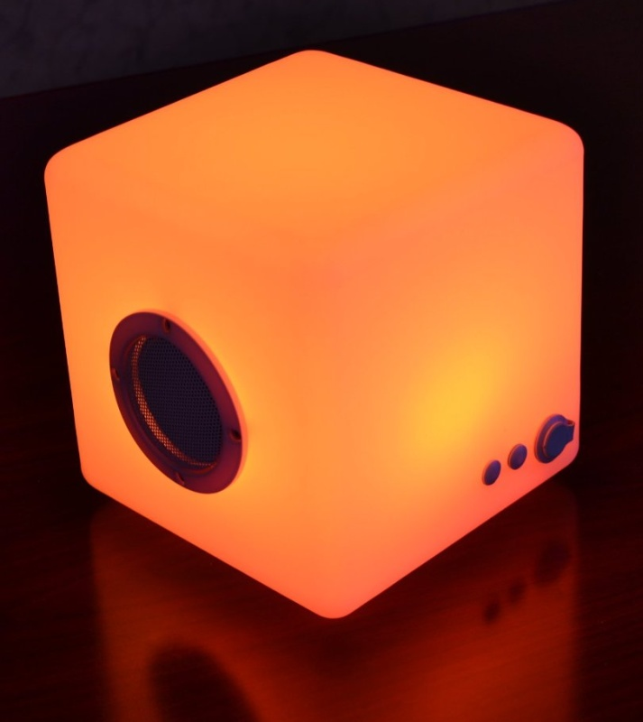 Wireless Multi-Color LED Cube Bluetooth Speaker