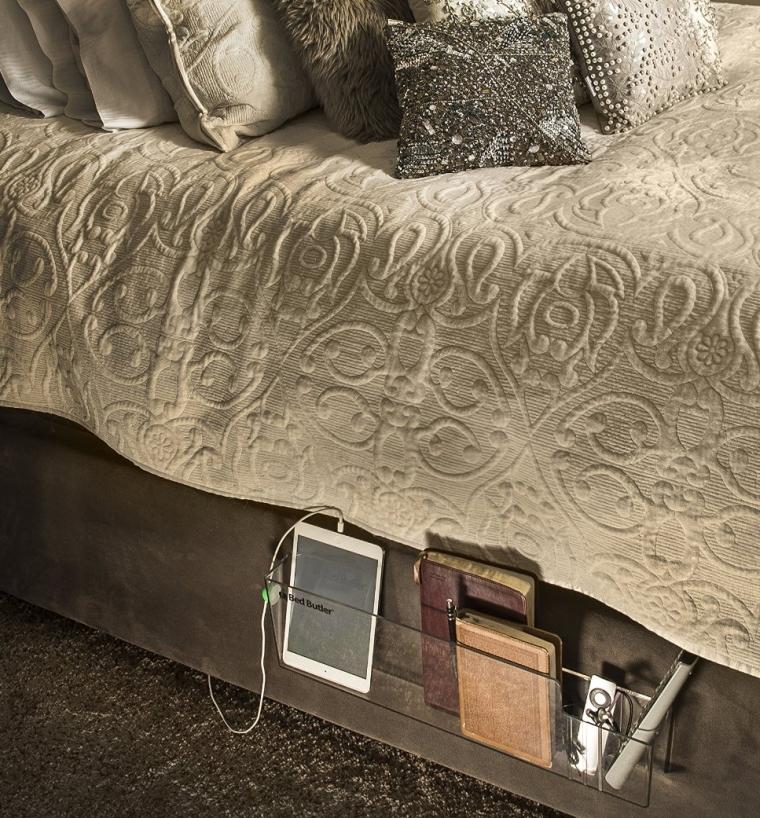 Bedside Caddy for Laptops, Remotes, Tablets,