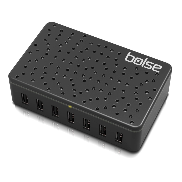 Bolse 7-Port USB WallDesktop Charger with SmartIC Technology