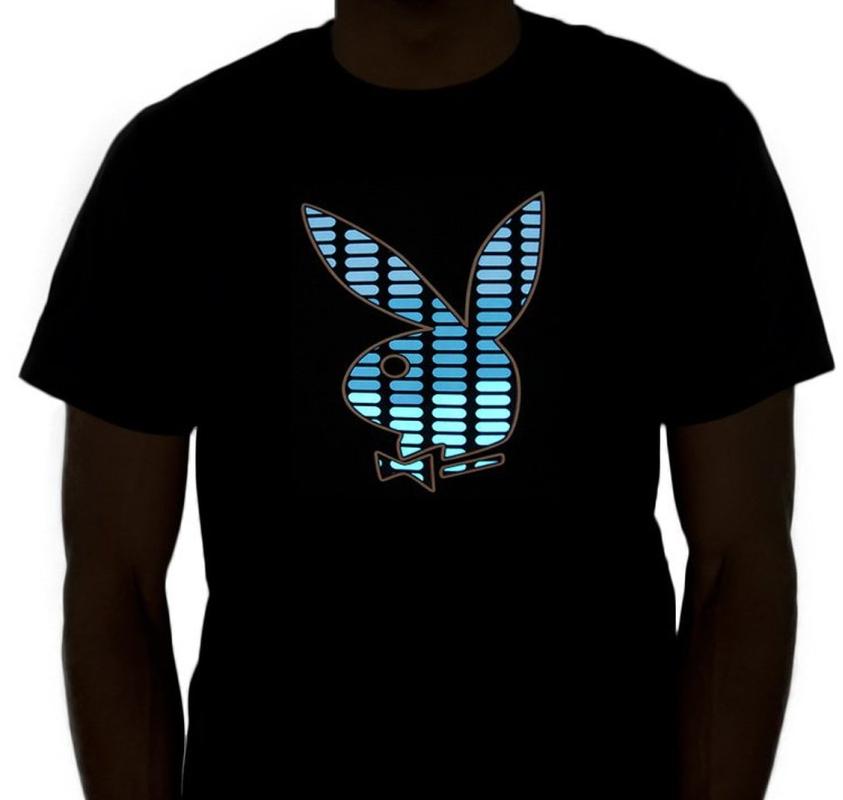 Bunny Sound Activated LED Flashing Equalizer Rave Shirt