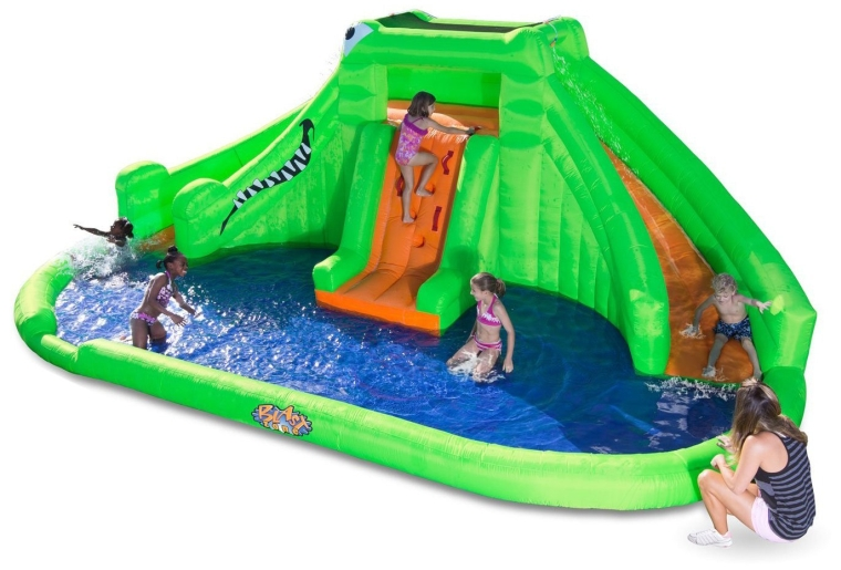 Crocodile Isle Inflatable water Park with Dual Slides