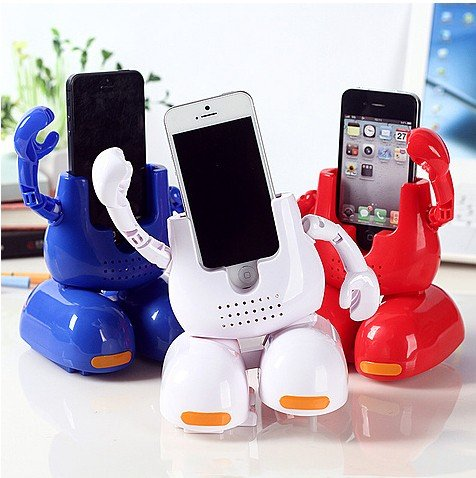 Dancing Face-stand Iphone Cradles,dance Robbot Cradles Support