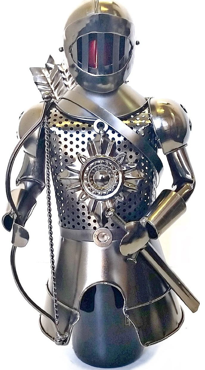Designer Wine Holder Medieval Armor Knight Warrior