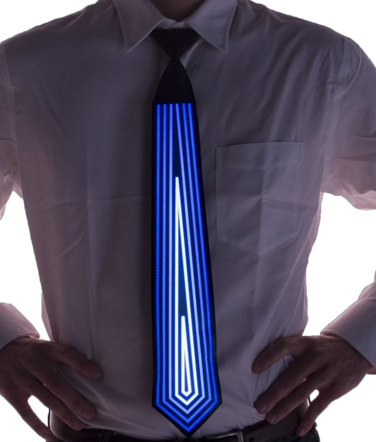 Diamond Sound Activated Light Up Neck Tie