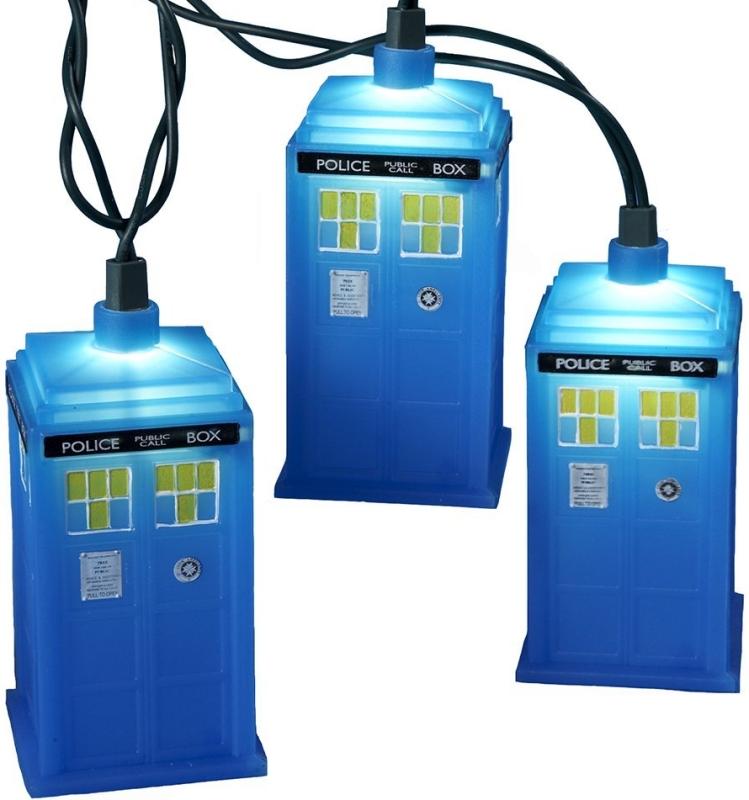 Doctor Who Kurt Adler UL 10-Light Tardis Light Set