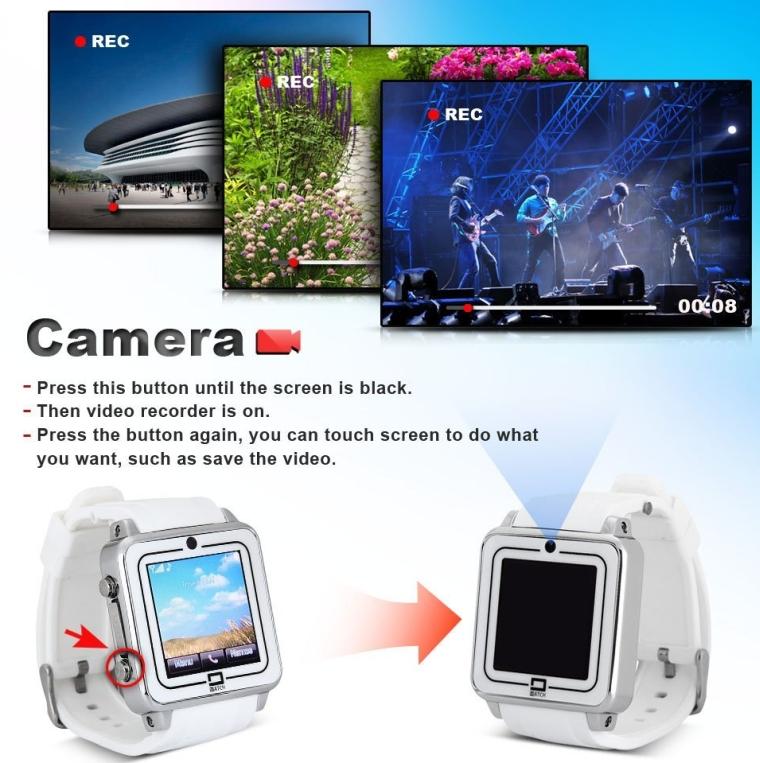 Dual Bluetooth Anti-loss Phone Watch QVGA HD Portable Smartwatch