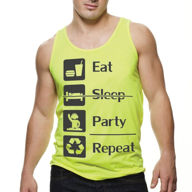 Eat Sleep Party Repeat Rave Festival Tank