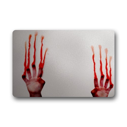 Funny Creepy Blood Bloody Hands Indoor  Outdoor Doormats