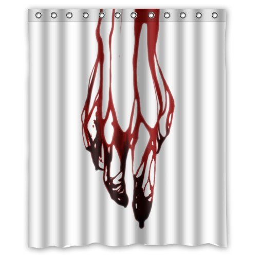 Funny Creepy Blood Bloody Hands Water Resistant Shower Curtains