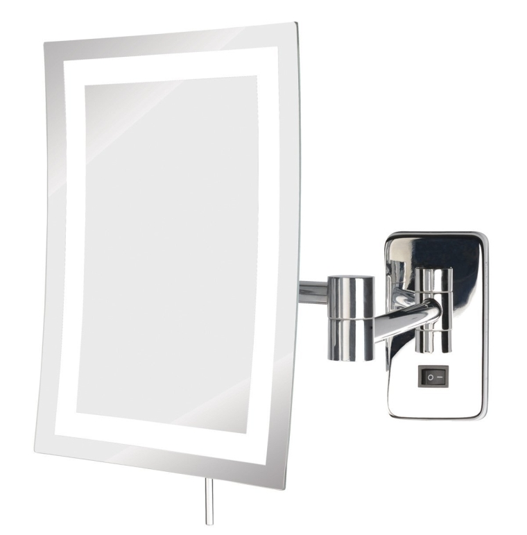 LED Lighted Wall Mount Rectangular Makeup Mirror
