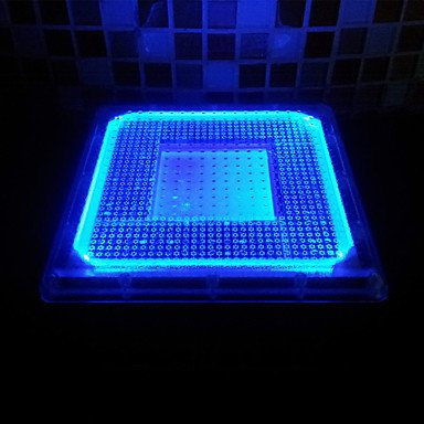 LED Square Stainless Steel Underground Lights Solar Powered