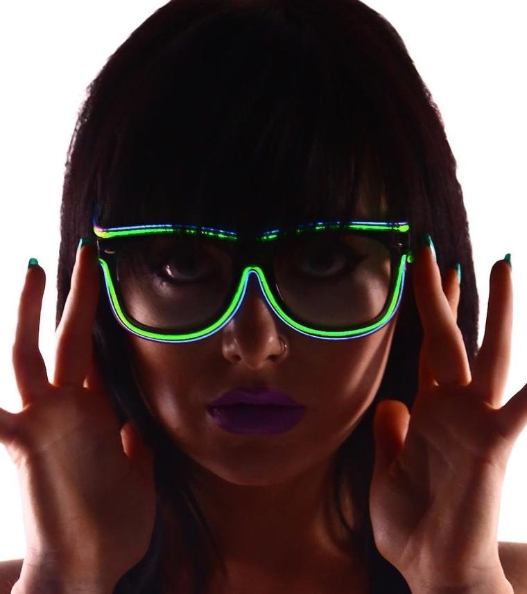 Light Up EL Wire Wayfarer Rave Festival Glasses