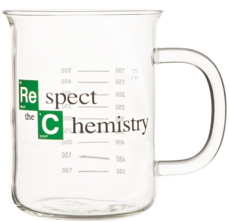 Respect the Chemistry Beaker Mug