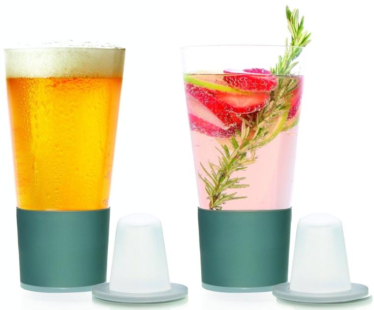 Self Chilling Beer Glasses Bonus Chill Cones