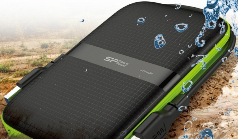 Silicon Power 2TB Rugged Armor A60 Shockproof Water-Resistant 2.5-Inch USB 3.0 Portable External Hard Drive
