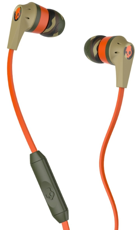 Skullcandy Riot with Mic1 Earbuds Camo