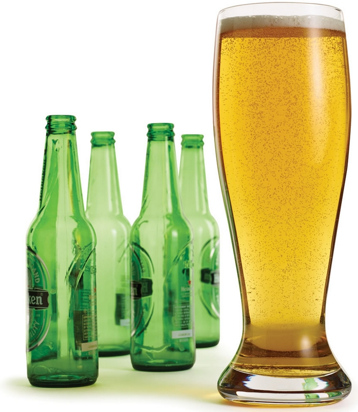 The Four Bottle Beer Glass
