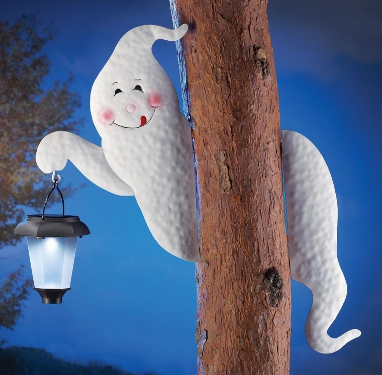 Tree Ghost With Solar Lantern
