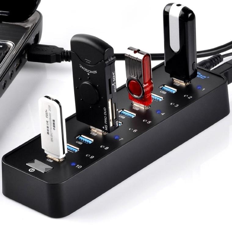 USB 3.0 Hub 10-Port