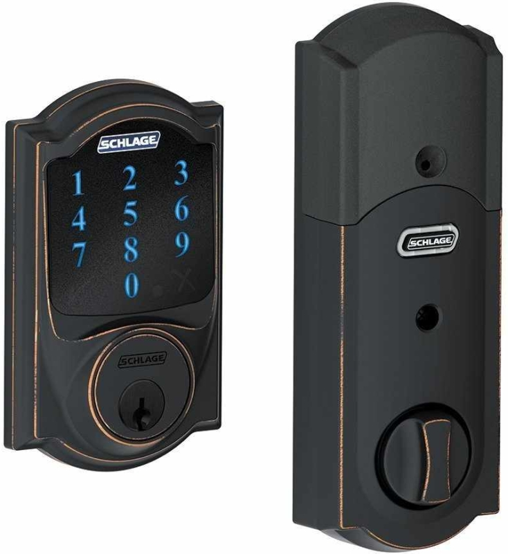 Camelot Z Wave Touchscreen Deadbolt With Built In Alarm