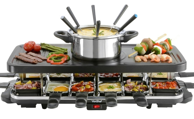 12 person raclette grill. Black Bedroom Furniture Sets. Home Design Ideas