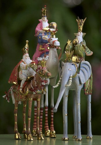 Brewster Magi On Animals Ornament