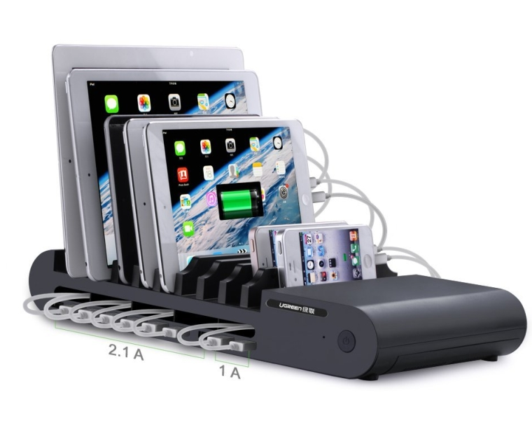 0 Ports 96W Universal USB Desktop Charger USB Charging Station