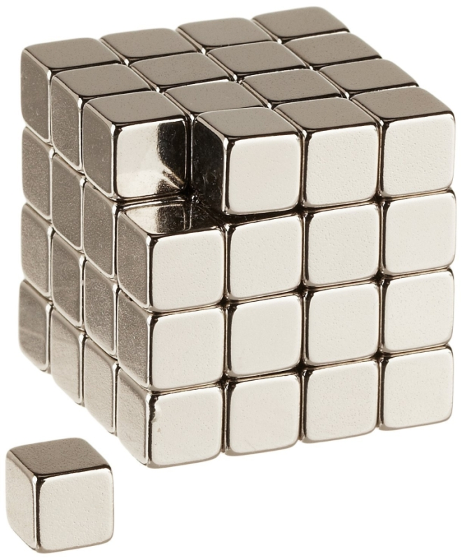 64 Neodymium Rare Earth Magnets 14 Inch Cube N48