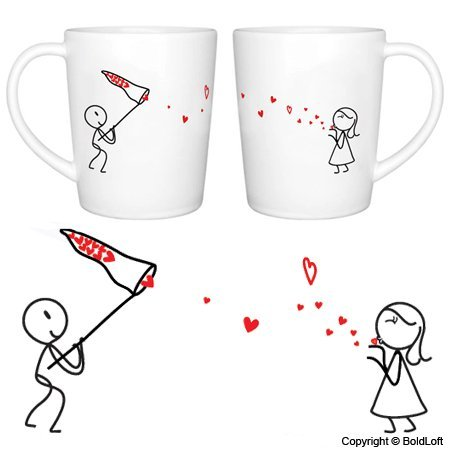 Catch My Love His and Hers Coffee Mugs