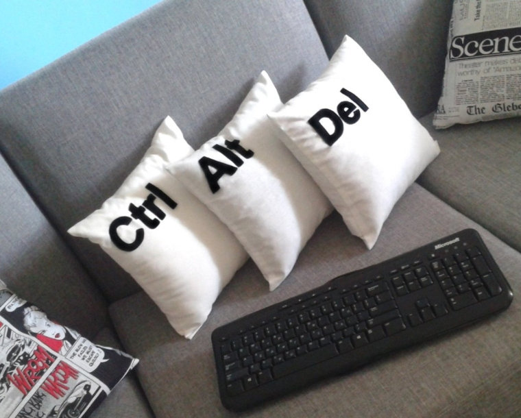 Ctrl, Alt, Del Cushion Covers, Decorative Pillow Cases
