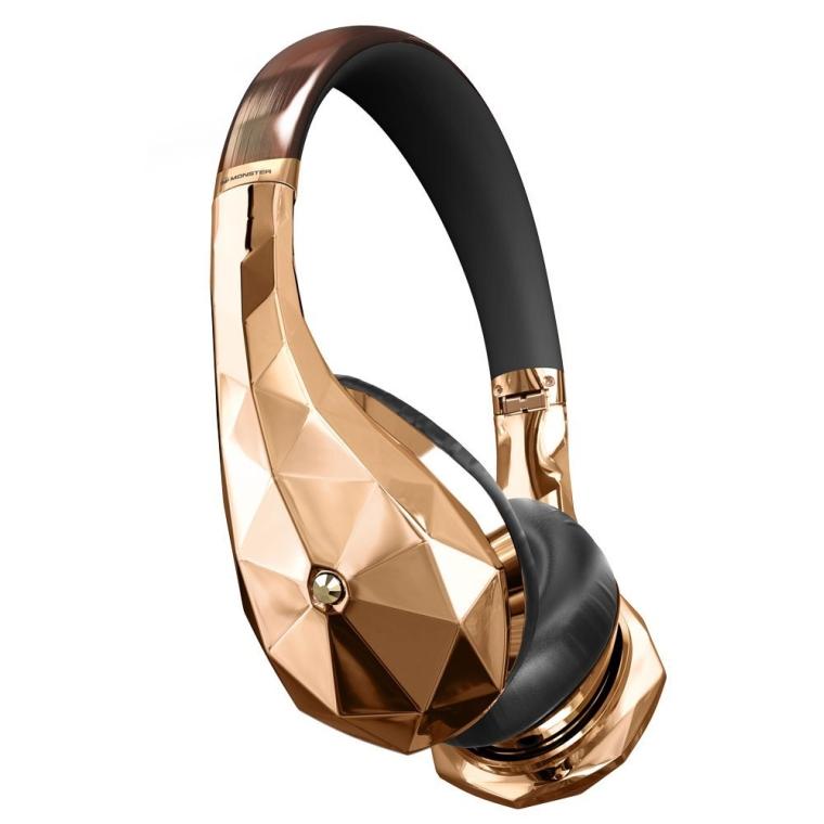 DiamondZ Rose Gold On-Ear Headphones