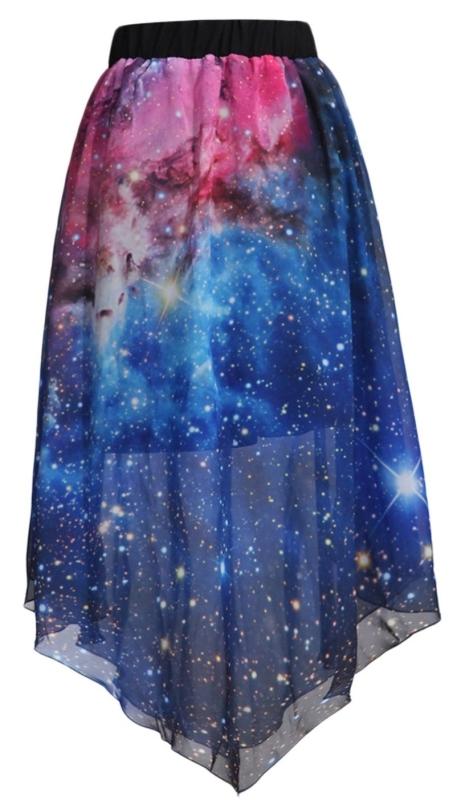 Galaxy Cosmic Digital Printed Skirts