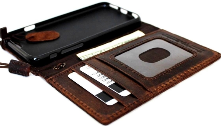 Genuine Italian Leather Case for Iphone 6 Book Wallet