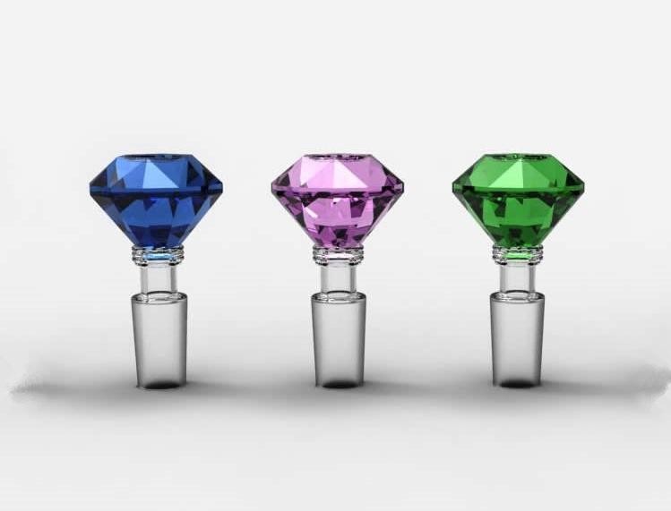 Glass Slide Bowl Diamond Stlye Herb Holder