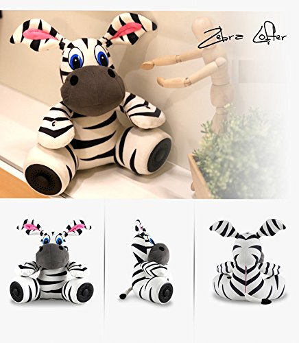 Glovion Lovely Cartoon Panada Plush Toy with Portable Multifunctional Bluetooth Speaker Music Bluetooth Handfree Speaker for Gifts (Zebra Style)